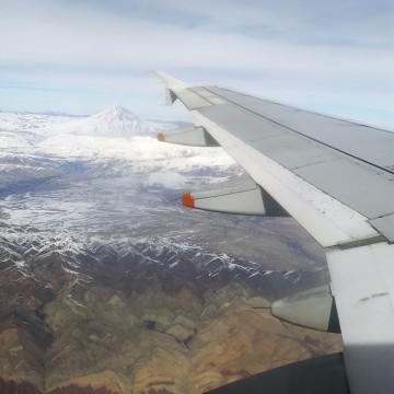 کوه دماوند از پرواز ساعت یک ظهر تهران مشهد